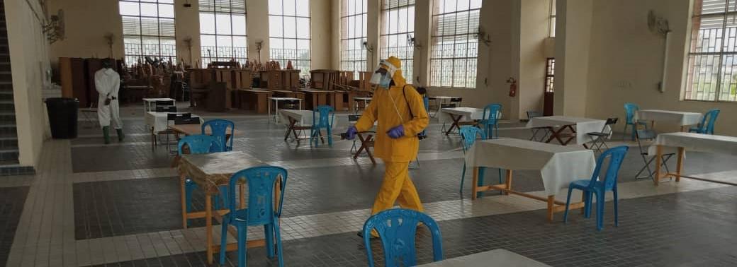 Respect des mesures sanitaires : désinfection des sites de l'UM